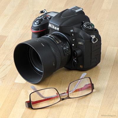 Nikon D610 a brýle