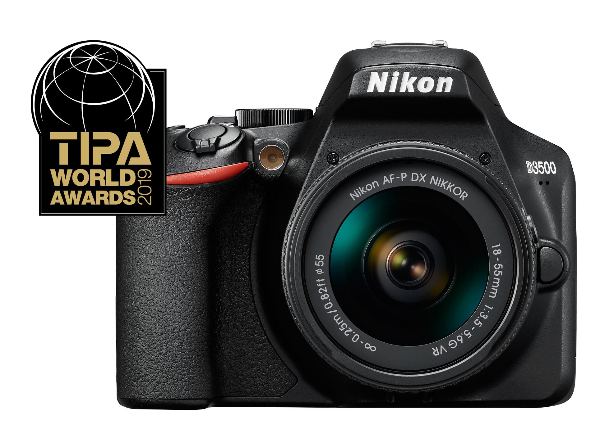 TIPA World Awards 2019 –Nikon D3500 –Best DSLR camera