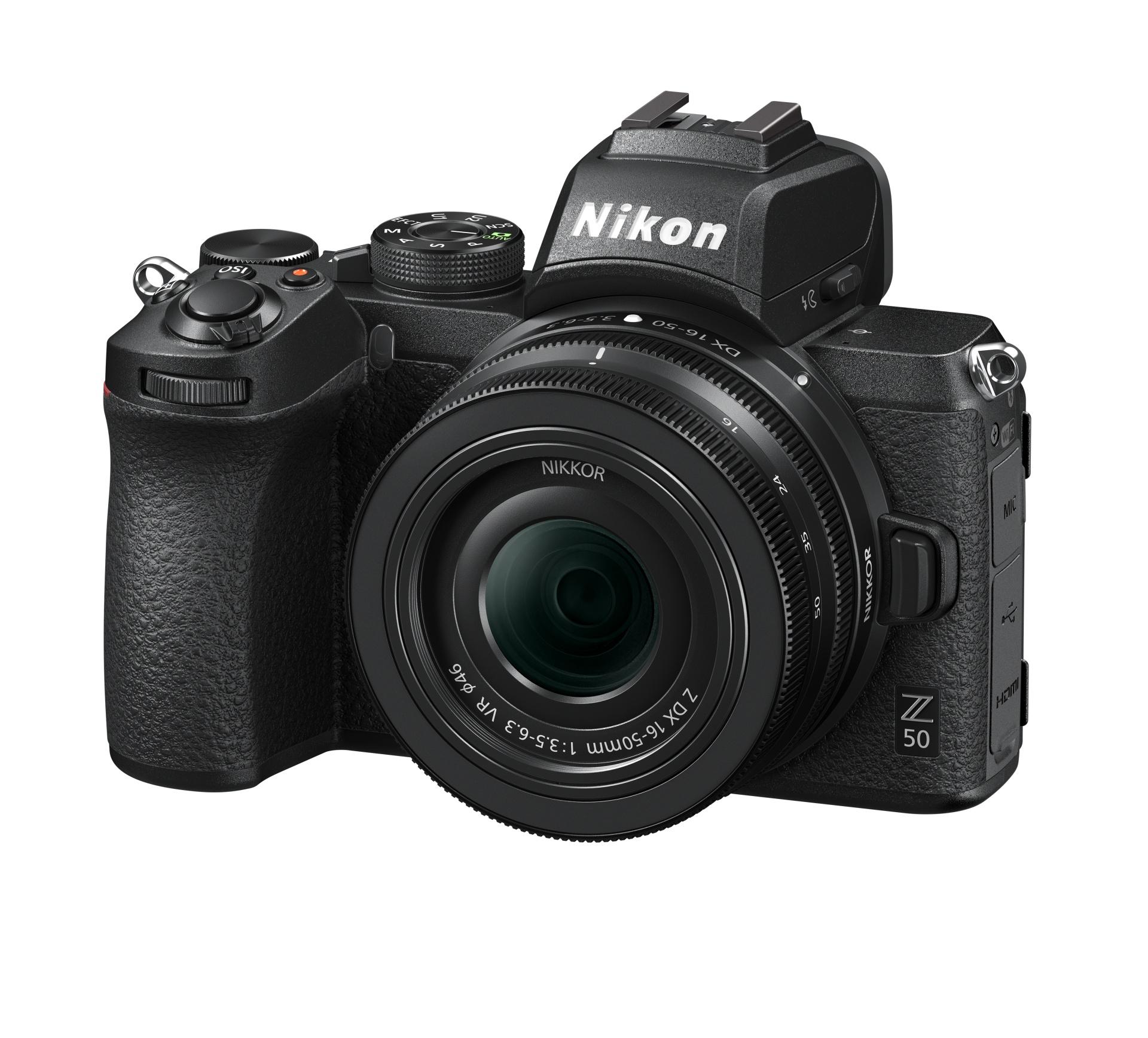 Objektiv Nikkor Z DX 16–50mm f/3,5–6,3 VR v transportním (zasunutém) stavu