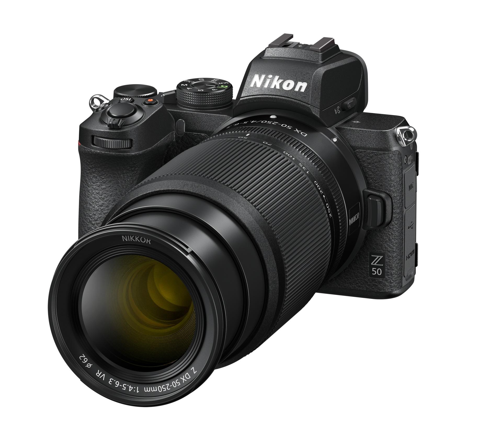 Objektiv Nikkor Z DX 50–250mm f/4,5–6,3 VR v provozním (vysunutém) stavu
