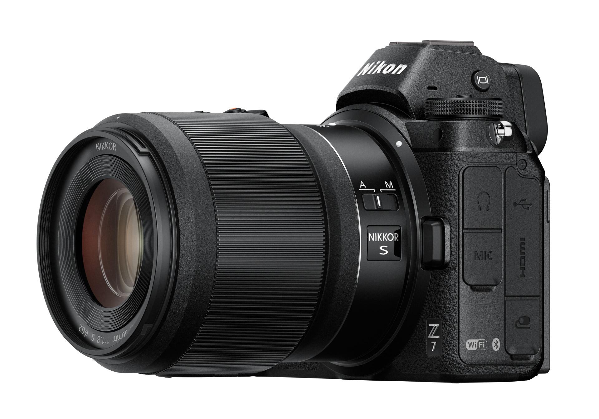 Nikkor Z 50 mm f/1,8 S na těle Nikon Z7