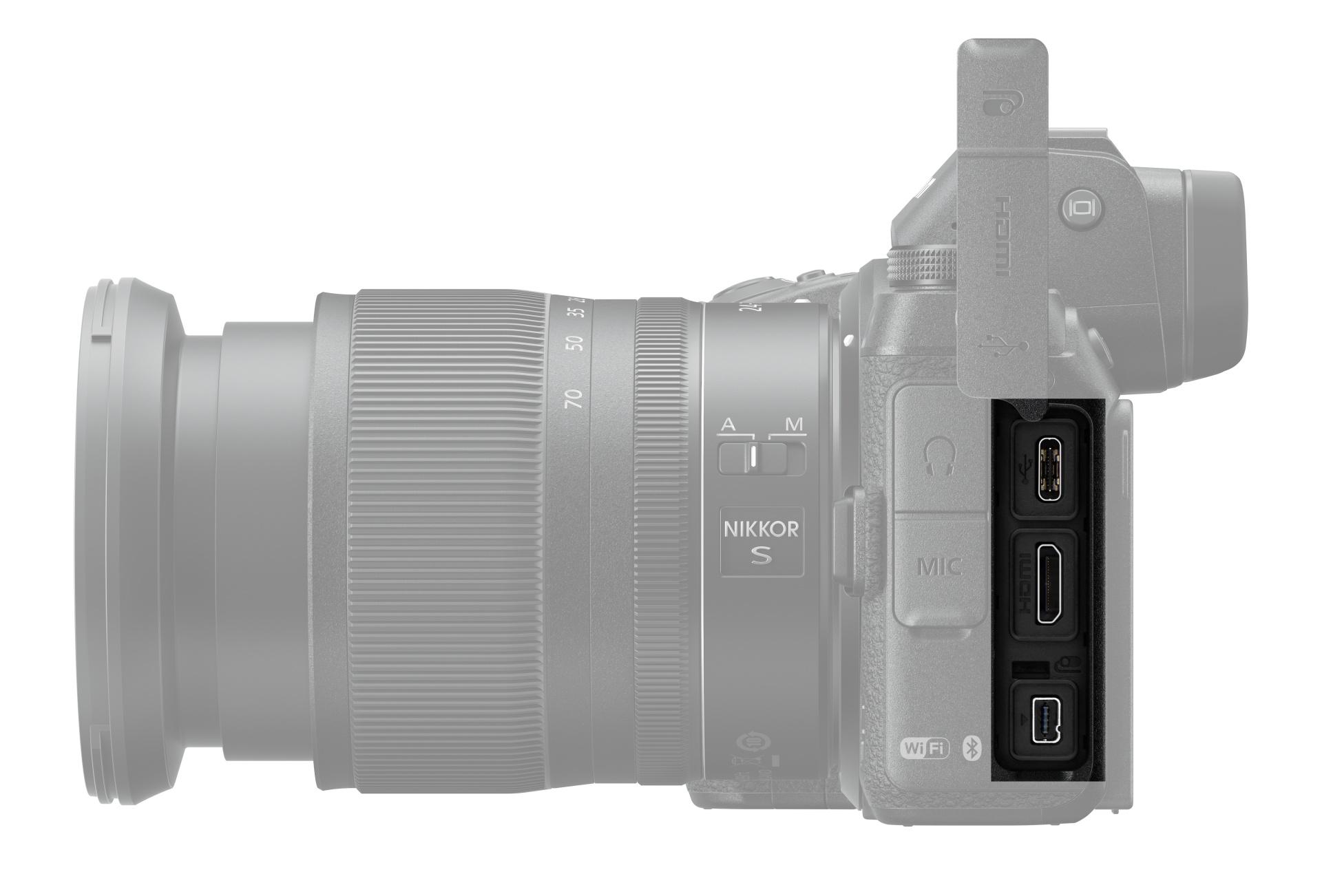 Nikon Z6 (i Z7) je možné nabíjet také přes USB port