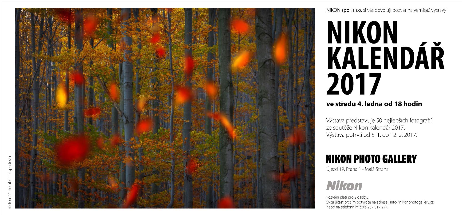 Nikon kalendář 2017 naživo v Nikon Photo Gallery