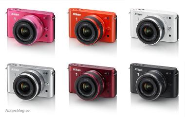 Nikon 1 J2 si můžete pořídit ve vícero barevných provedeních než předchůdce, nově přibyla červená (spíše bordó) a oranžová