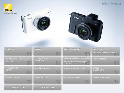 Katalog Nikon 1 na iPadu