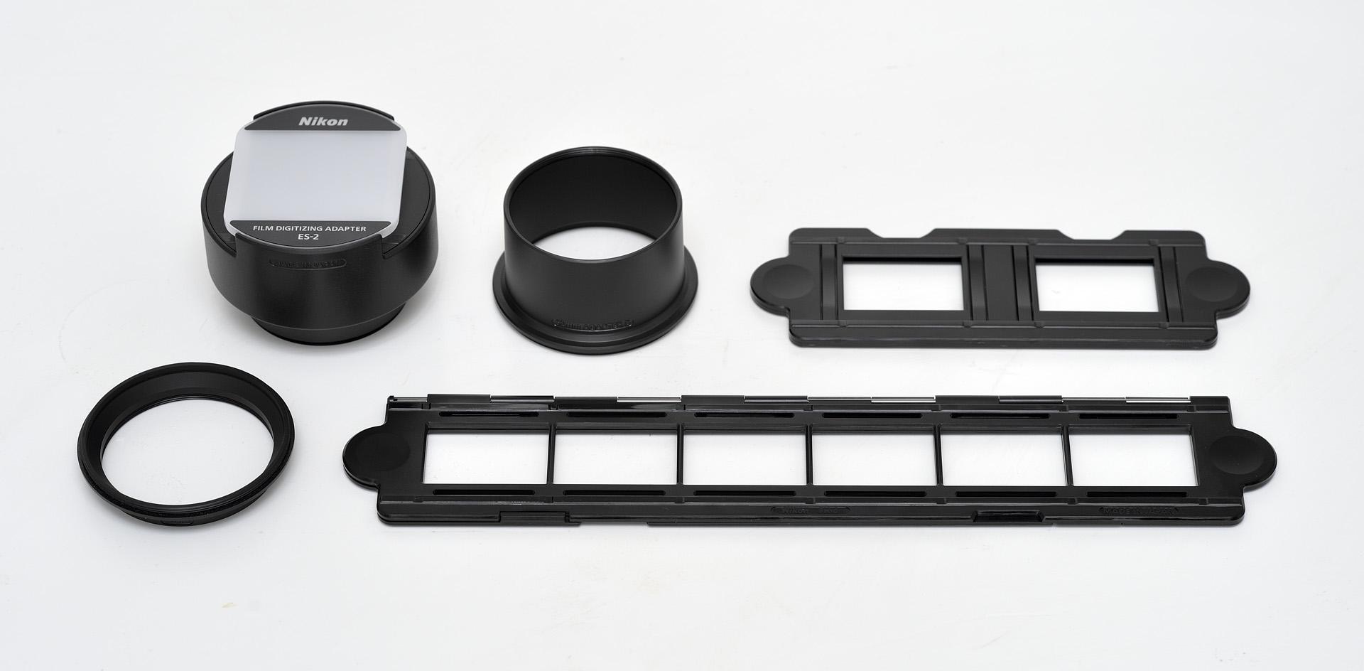Obsah balení sady Nikon ES-2