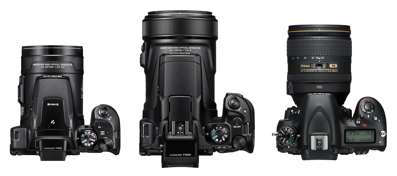Nikon Coolpix P1000 vs. Coolpix P900 a Nikon D750
