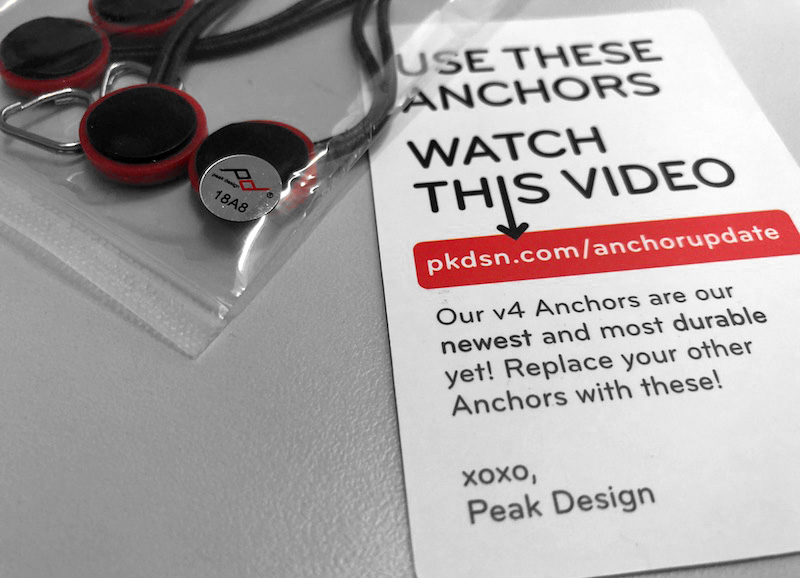 Peak Design aktualizuje kotvičky Anchor Link