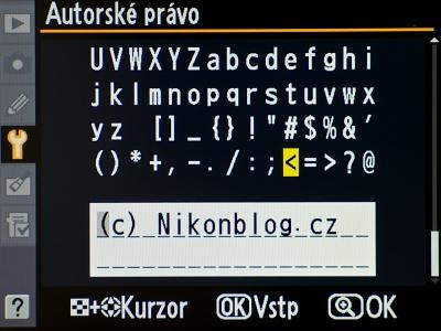Personalizace snímků ve fotoaparátu