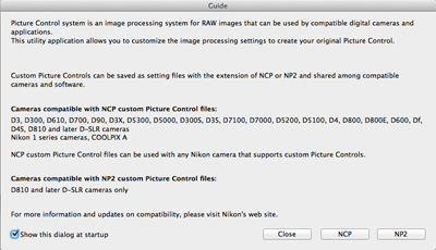 Picture Control Utility 2