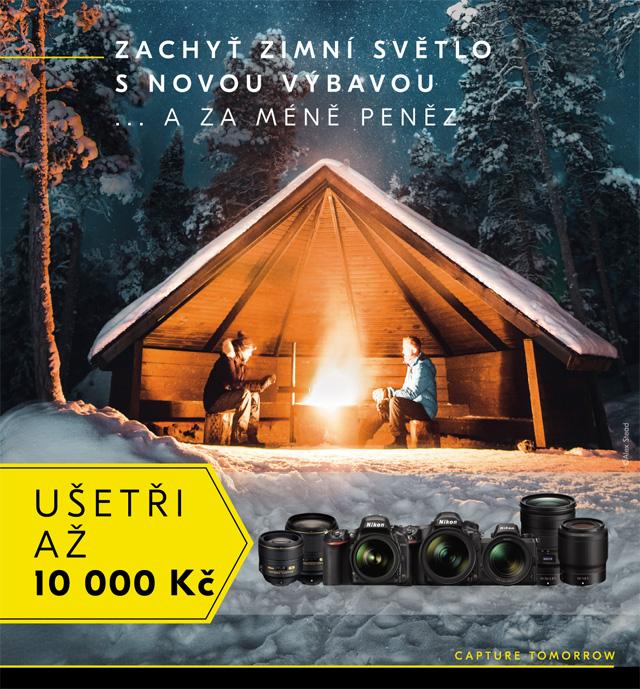 Ušetři s Nikonem –Zachyť zimní světlo s novou výbavou… a za méně peněz