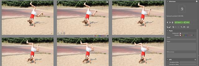 Rozpačitá multiselekce v poslední aktualizaci Zoner Photo Studia X