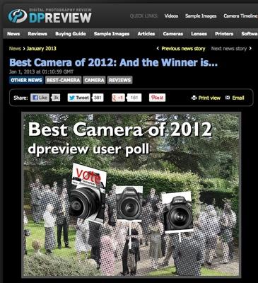 Anketa o nejlepší fotoaparát Dpreview.com 2012