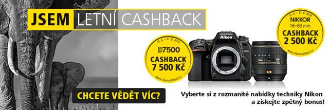 Letní cashback Nikonu právě spuštěn!