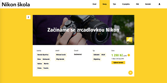 Kurzy Nikon školy na Slovensku