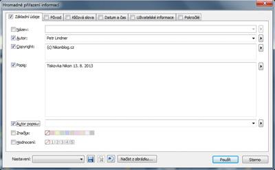 Personalizace snímků v počítači
