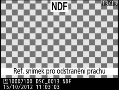 Referenční snímek pro odstranění prachu