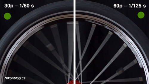Porovnání video 1 080/30p vs 1 080/60p