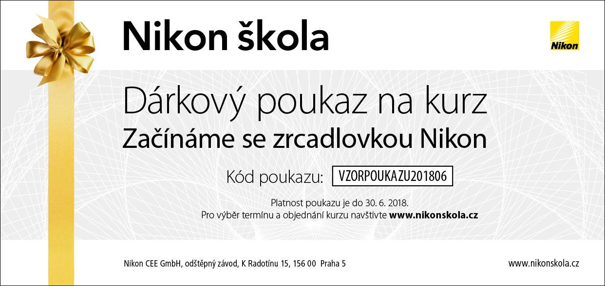 Dárkový poukaz Nikon škola